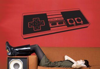 Game Controller Wall Decal - Vinyl Decor for Nerds and Geeks