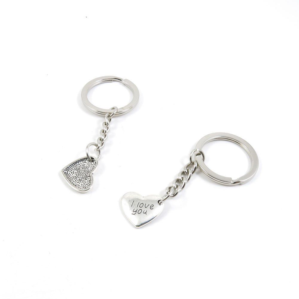 1 Pieces Keychain Door Car Key Chain Tags Keyring Ring Chain Keychain  Supplies Antique Silver Tone Wholesale Bulk Lots C5HH2 I Love You Heart     Startling ... 37d91c370a