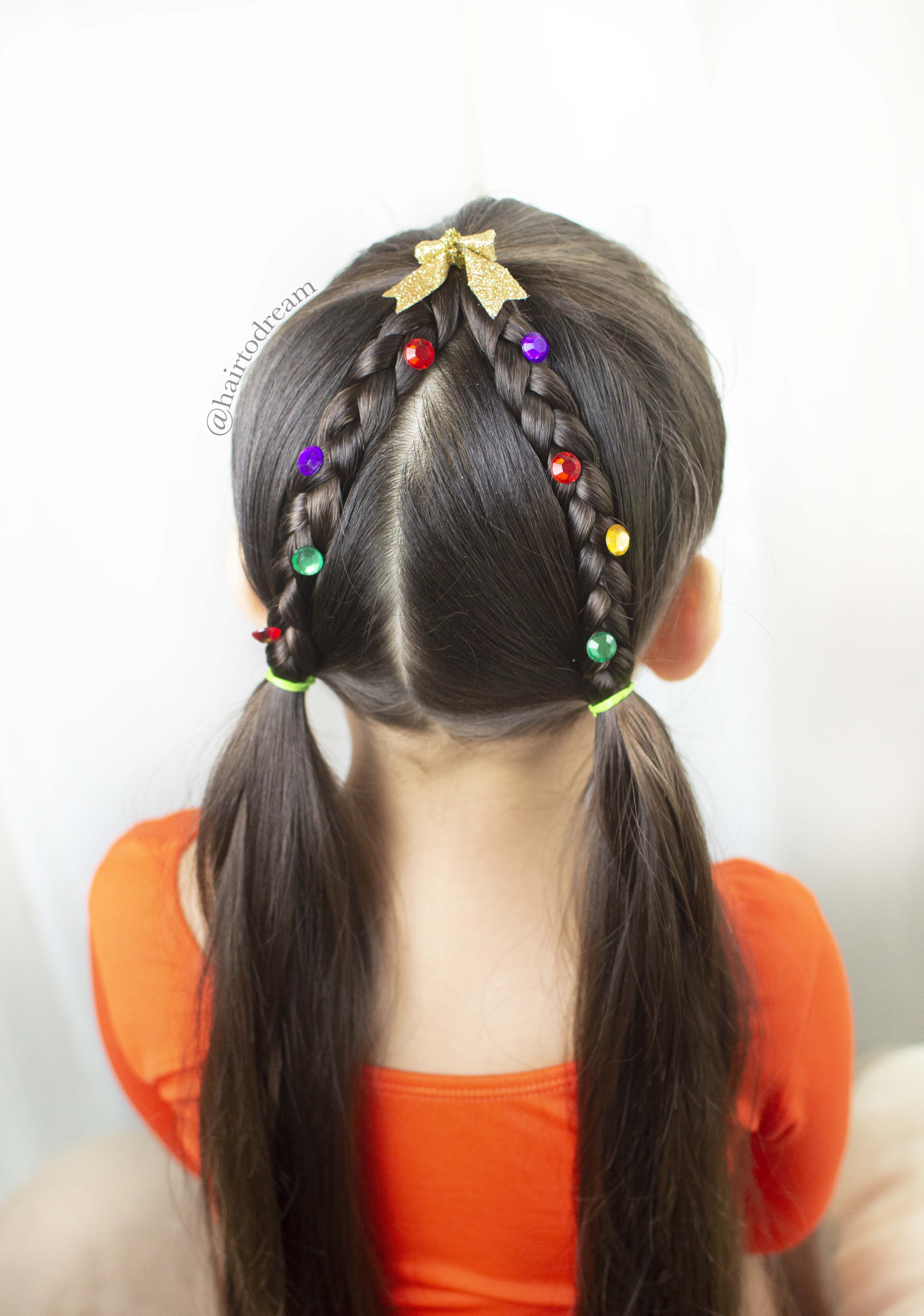 Easy Christmas Hair For Girls Kids Hairstyles Hair Styles Little Girl Hairstyles