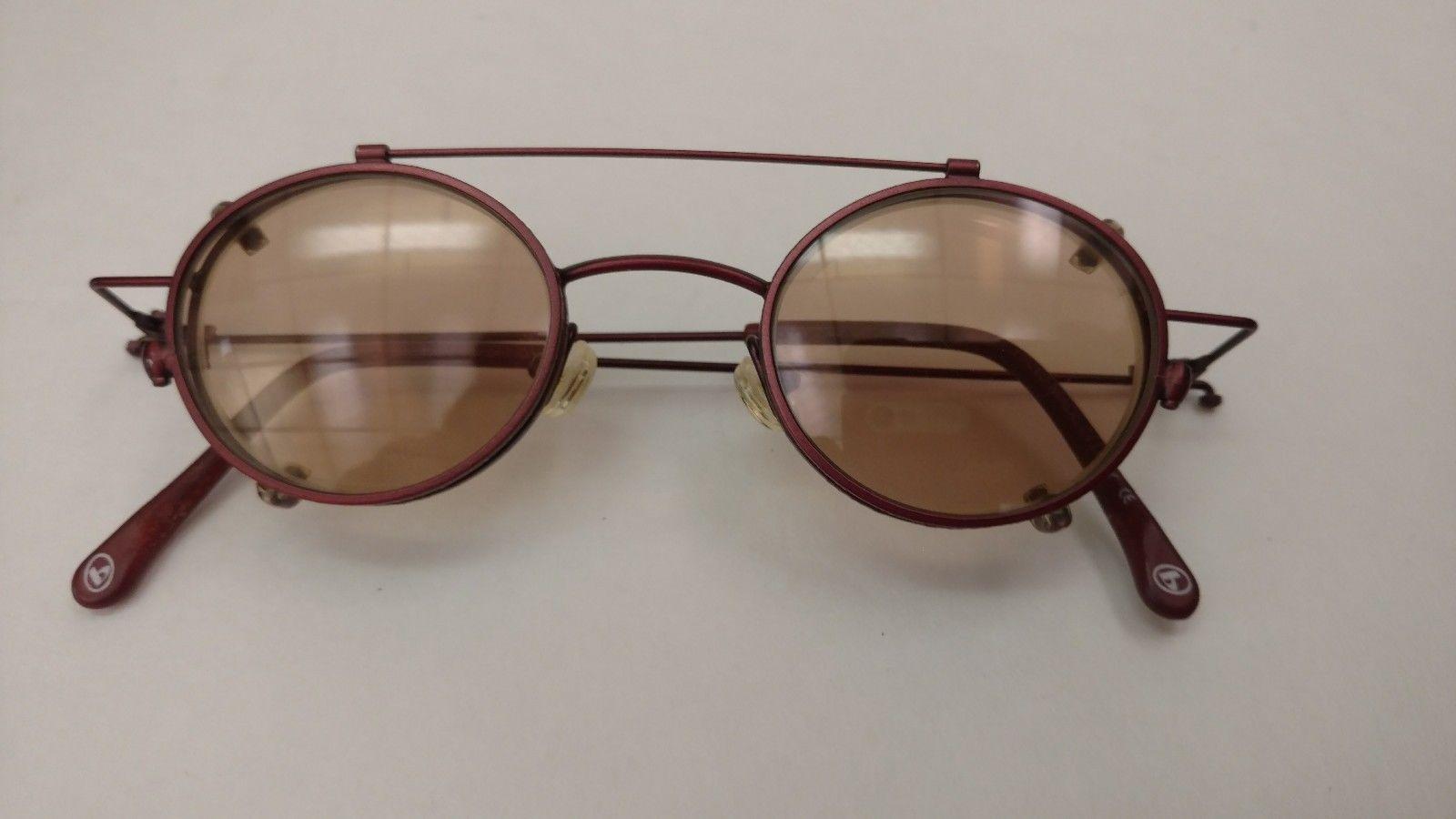 Small Round VTG Retro BUM Steampunk Brick Red Eyeglass Frames ...