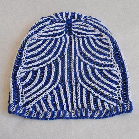 Brioche stitch Hat. Sun Hat. Knit cotton hat. Cotton cap.  bb73274b0af