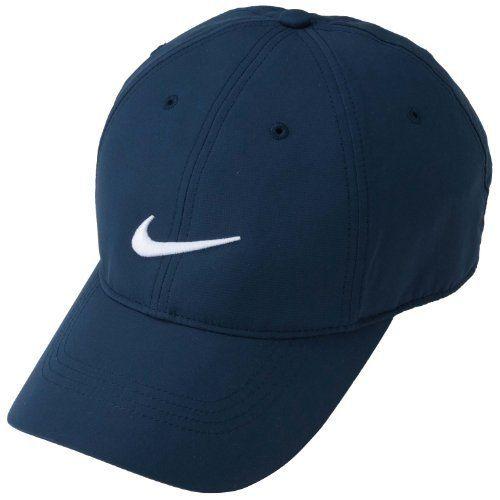 e0f803e31009f Nike Golf Tech Swoosh Cap (College Navy/White) Nike. $14.91. polyester.  Dri_Fit 100% Polyester. Snagless back closure. Machine Washable. Taiwan.