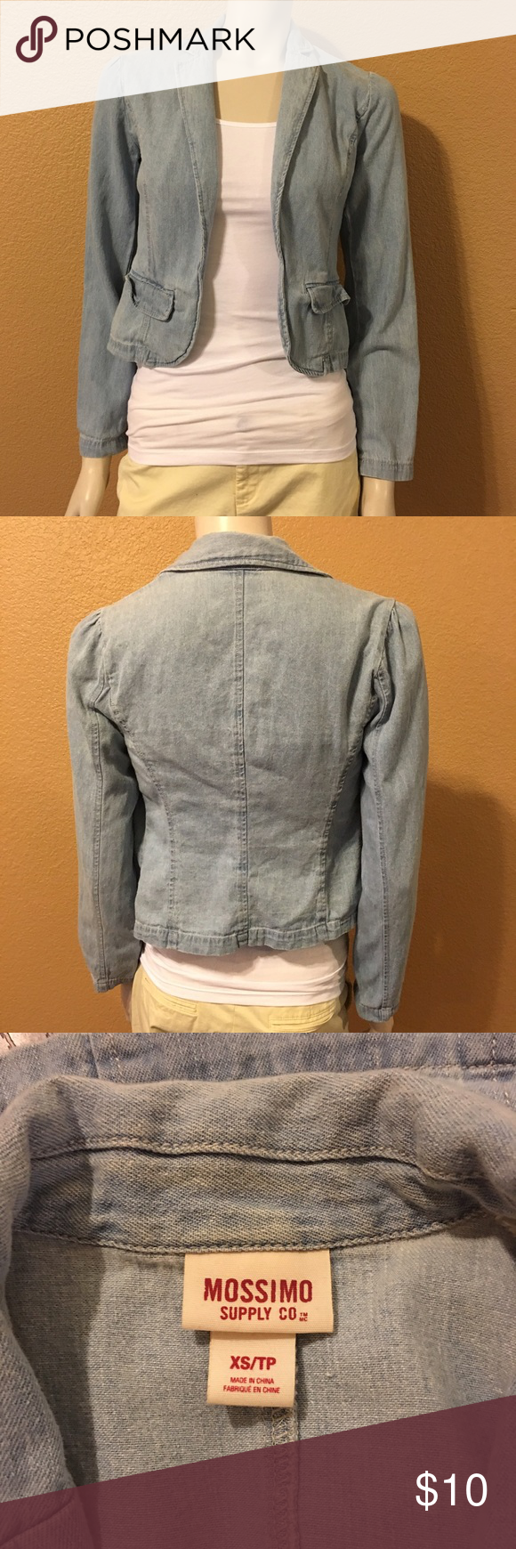 Mossimo Jacket Light weight Mossimo blue jean jacket. Perfect match for any outfit! Mossimo Supply Co Jackets & Coats Jean Jackets