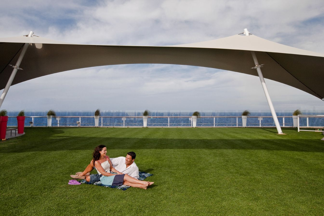 #SailwithCelebrity Celebrity Solstice cruise boat has a yard! With real grass! I CAN'T WAIT!