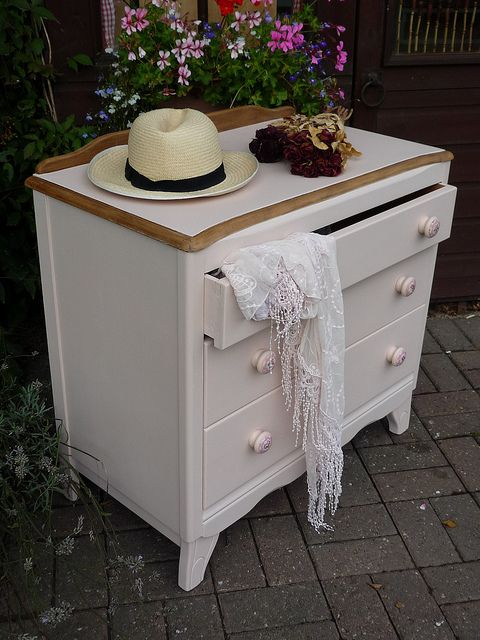 Shabby Chic Pink Painted Chest of Drawers