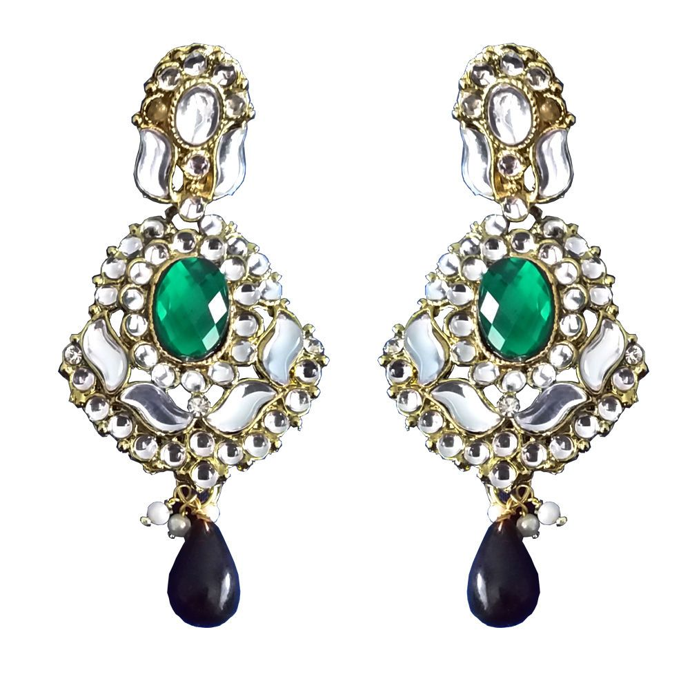 Gold fashion earrings crystals chandelier green copper glass beads gold fashion earrings crystals chandelier green copper royal blue ebay arubaitofo Choice Image