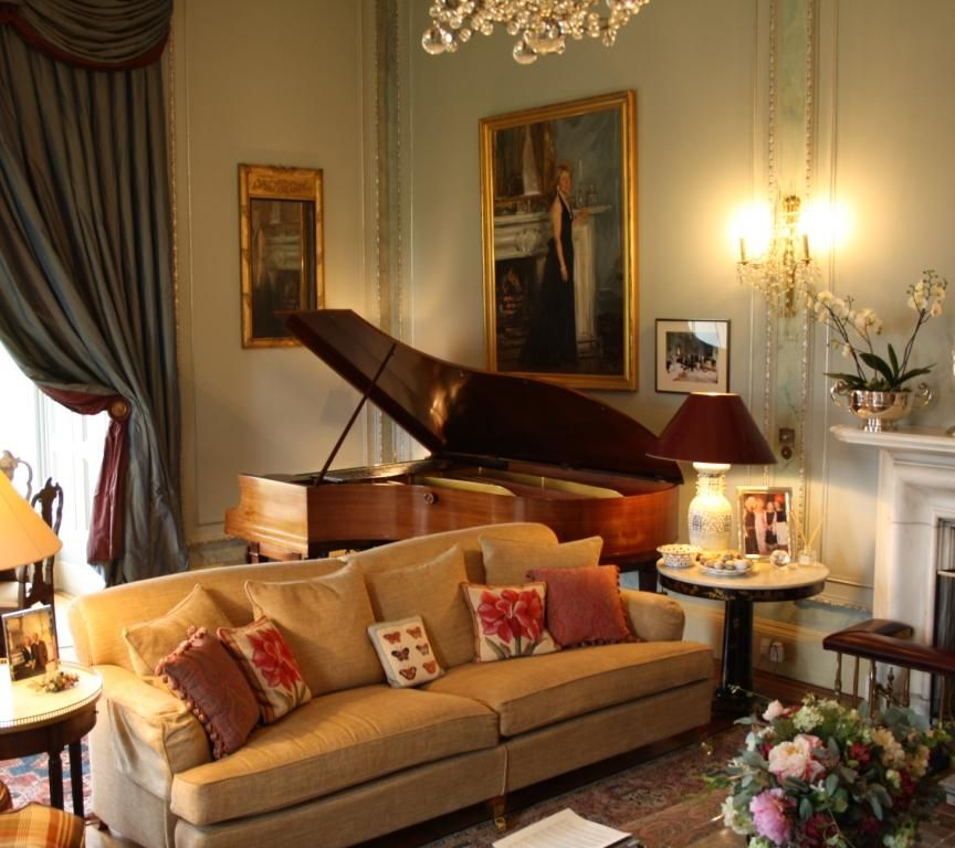 Grand Piano In Drawing Room Dundas Castle Uk With Images