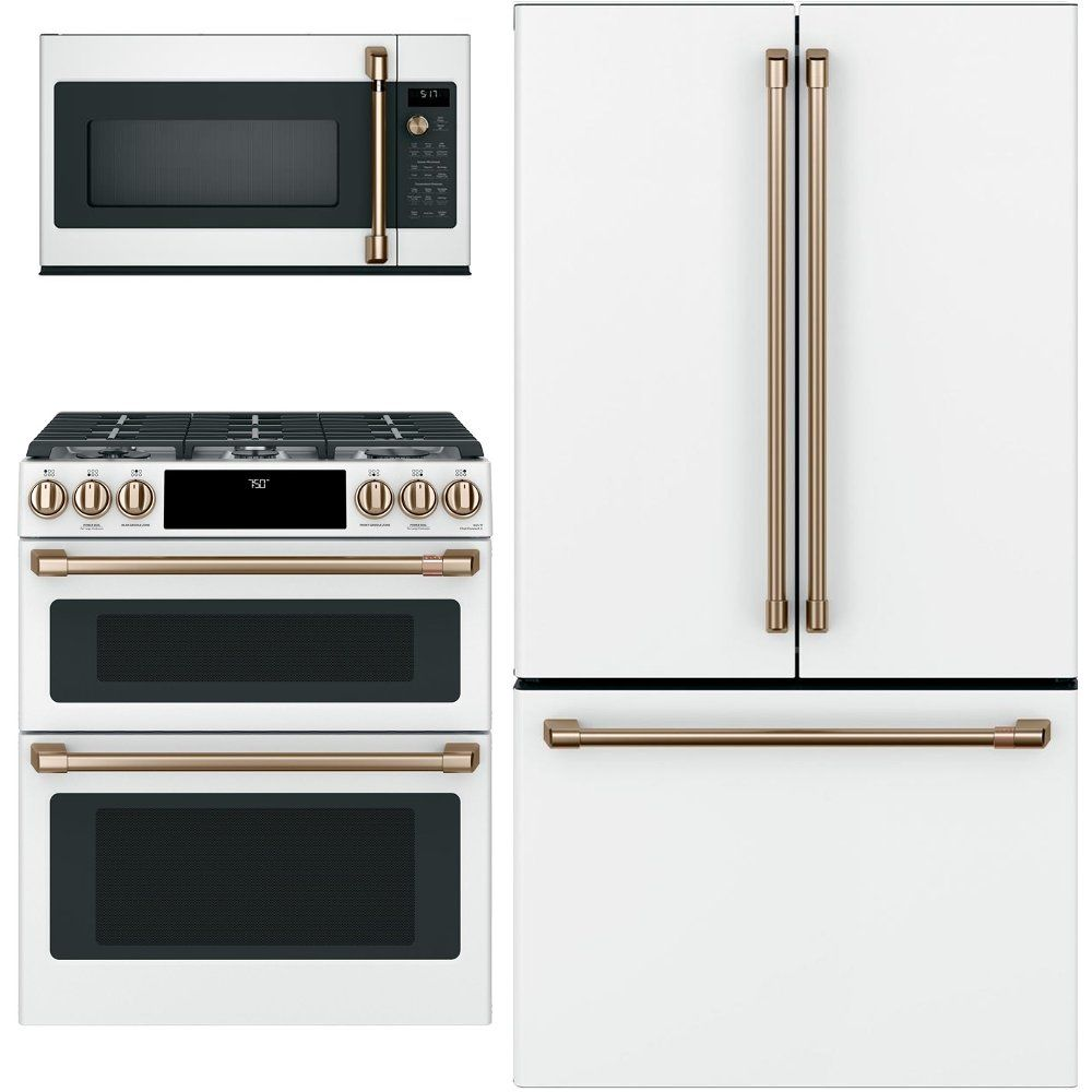 cafe 3 piece kitchen appliance package with gas range white in 2020 kitchen appliance on kitchen appliances id=70068
