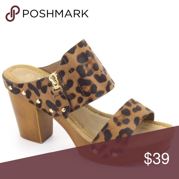 d5be966bfd5 Leopard Two Strap Slip On Retro Platform Sandal If you love a retro vibe