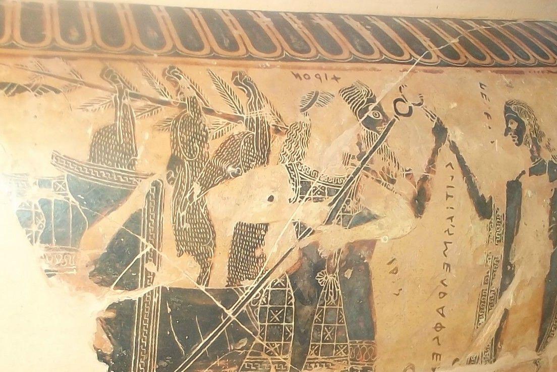 Vaso attico 570 a c firenze museo archeologico vaso for Vaso attico