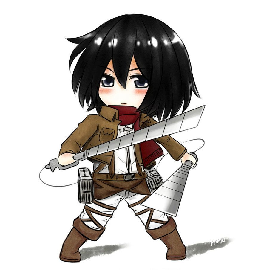 Art Request: Chibi Mikasa Ackerman by Ma-mio