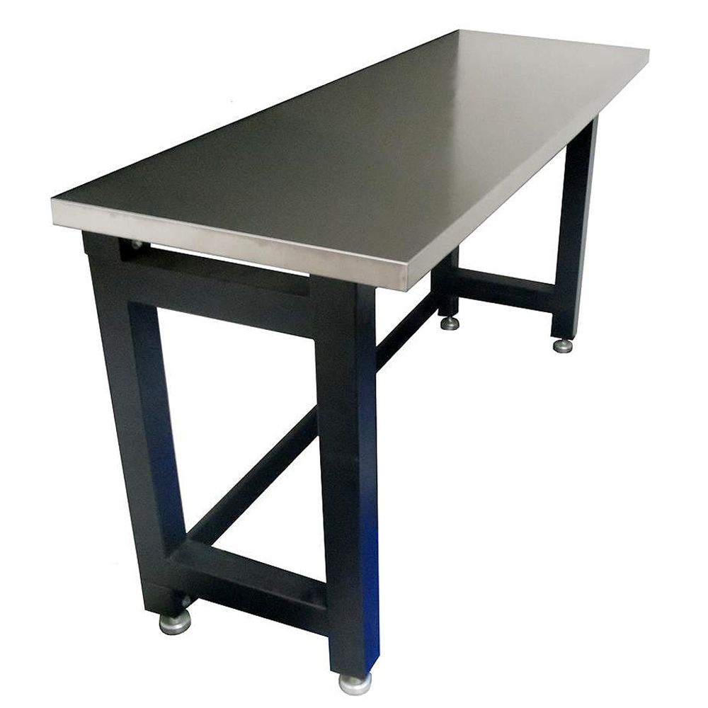 72 Inch Stainless Steel Top Table Workbench Steel Construction With A Powder Coated Semi Gloss Finish 44mm Stain Metal Work Bench Steel Workbench Metal Bench