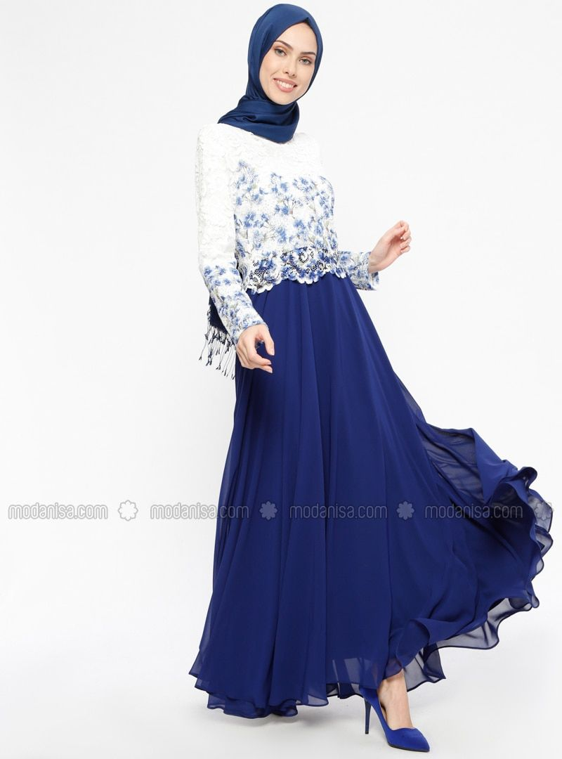 1094900c50 Saxe - Fully Lined - Crew neck - Muslim Evening Dress