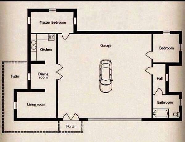 A Clever Way To Get Around The Rules Against Tiny Houses Garage Floor Plans Bathroom Floor Plans Big Garage