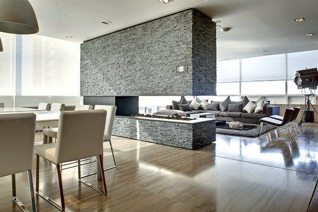 Dise o de salas modernas buscar con google moda para - Casas con chimeneas modernas ...