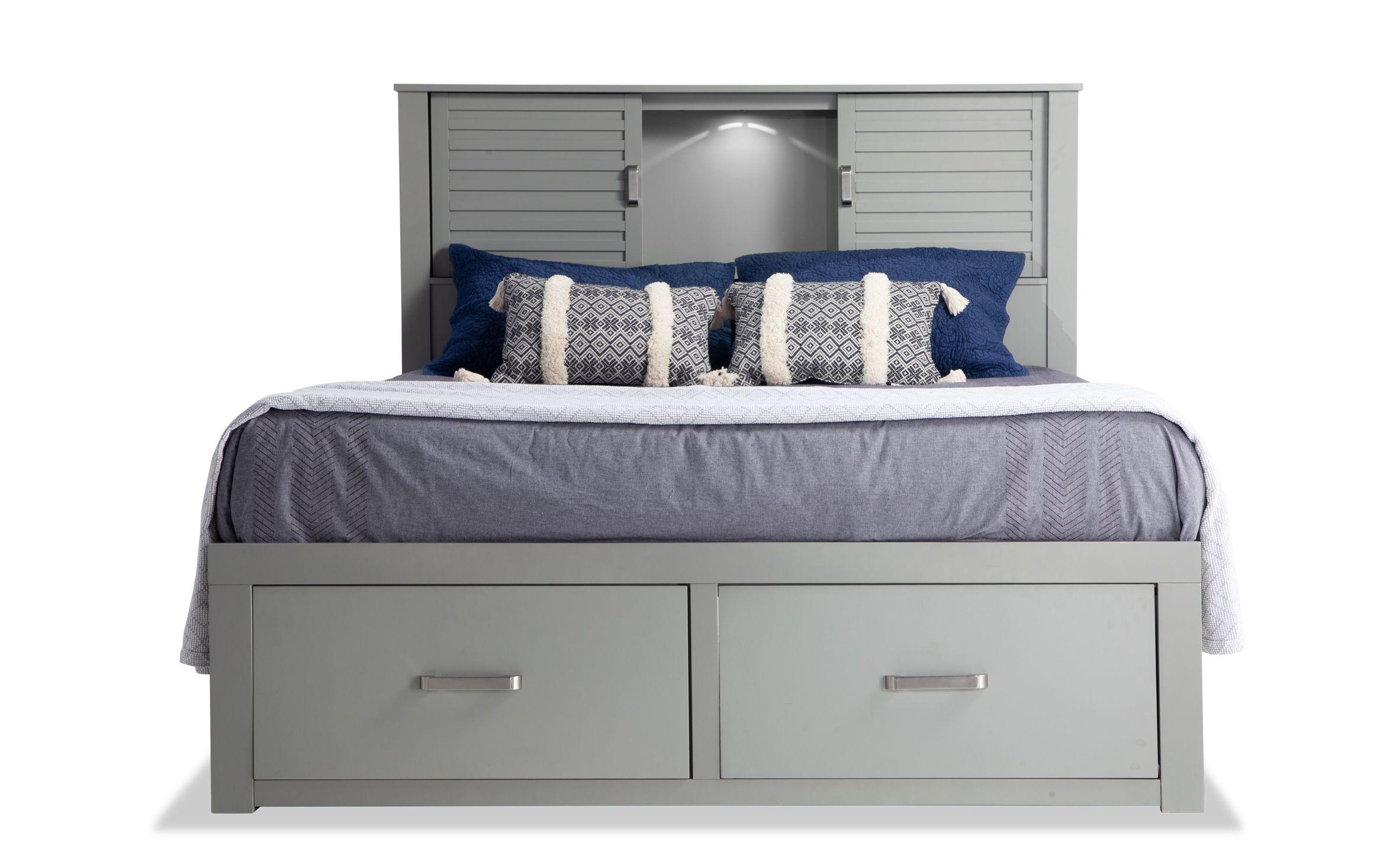 Dalton Full Espresso Storage Bed Grey storage bed