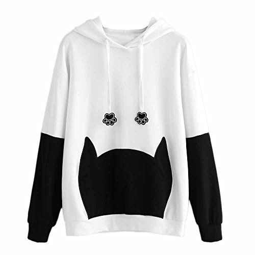d43e3d6352f958 Littleice Women Hoodie Loose Blouse Teen Girls Hooded Sweatshirt Jumper  Sweater Crop Top Pullover Tops For Fall