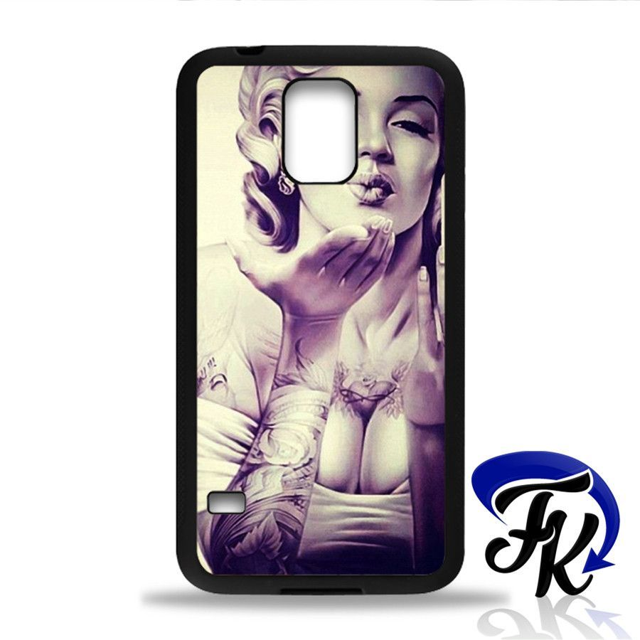 Sexy Marylin Monroe Tattos Phonecase, Case, Cover Plastic and Rubber for Samsung Galaxy Cases, iPhone Cases, iPod Cases