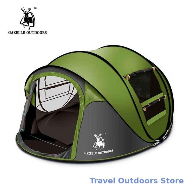 Gazelle Outdoors Camping Tent Large Space3 4persons