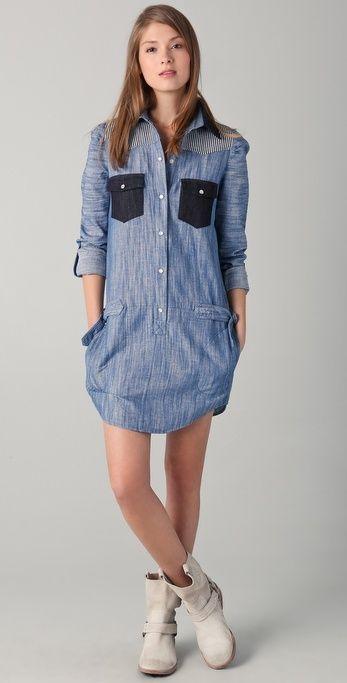 85e6e009db Pencey Shirtdress thestylecure.com Denim Shirt Dress