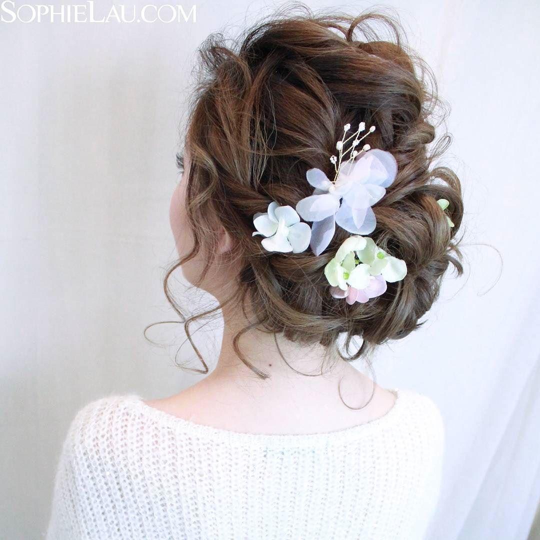 A feminine bridal hairstyle to match any fairytale wedding
