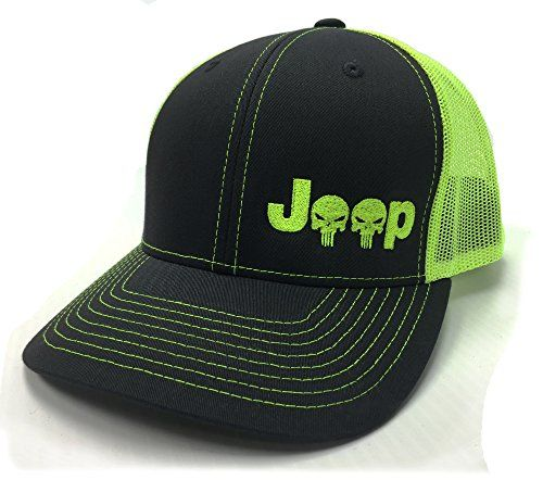 0df44fb8c Embroidered Jeep Logo With Punisher Skull Mesh Cap | Jeep Clothes ...