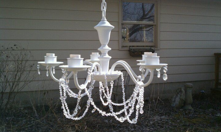 Kronleuchter Chabby Chic ~ Why buy when you can diy?: shabby chic chandelier dyi pinterest
