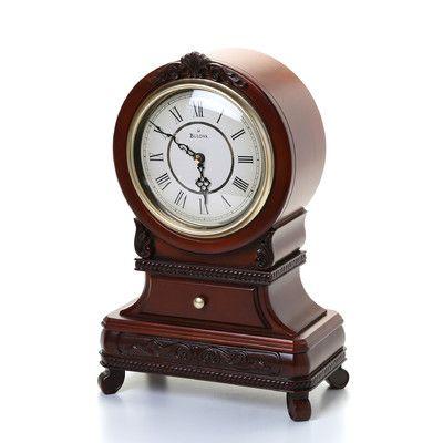 Bulova Knollwood Mantel Clock Clock Antique Clocks Tabletop Clocks