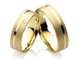 Aliança de Casamento Ouro 18K ALB 104 13 gramas 6,0 mm 1,5 mm Anatômica,  Quadrada Fosco, 1 Friso polido 1 Diamante de 2 pontos Grátis (nomes, datas,  ... f45995d6bd