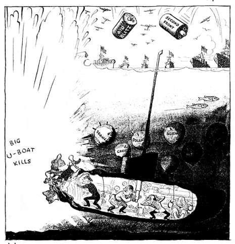 Caricature de Leslie Illingworth paru dans le Daily Mail le 3 juin 1943