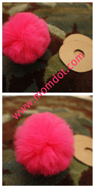 tulle balls - loads of possibilities!   (How about your kitty??)