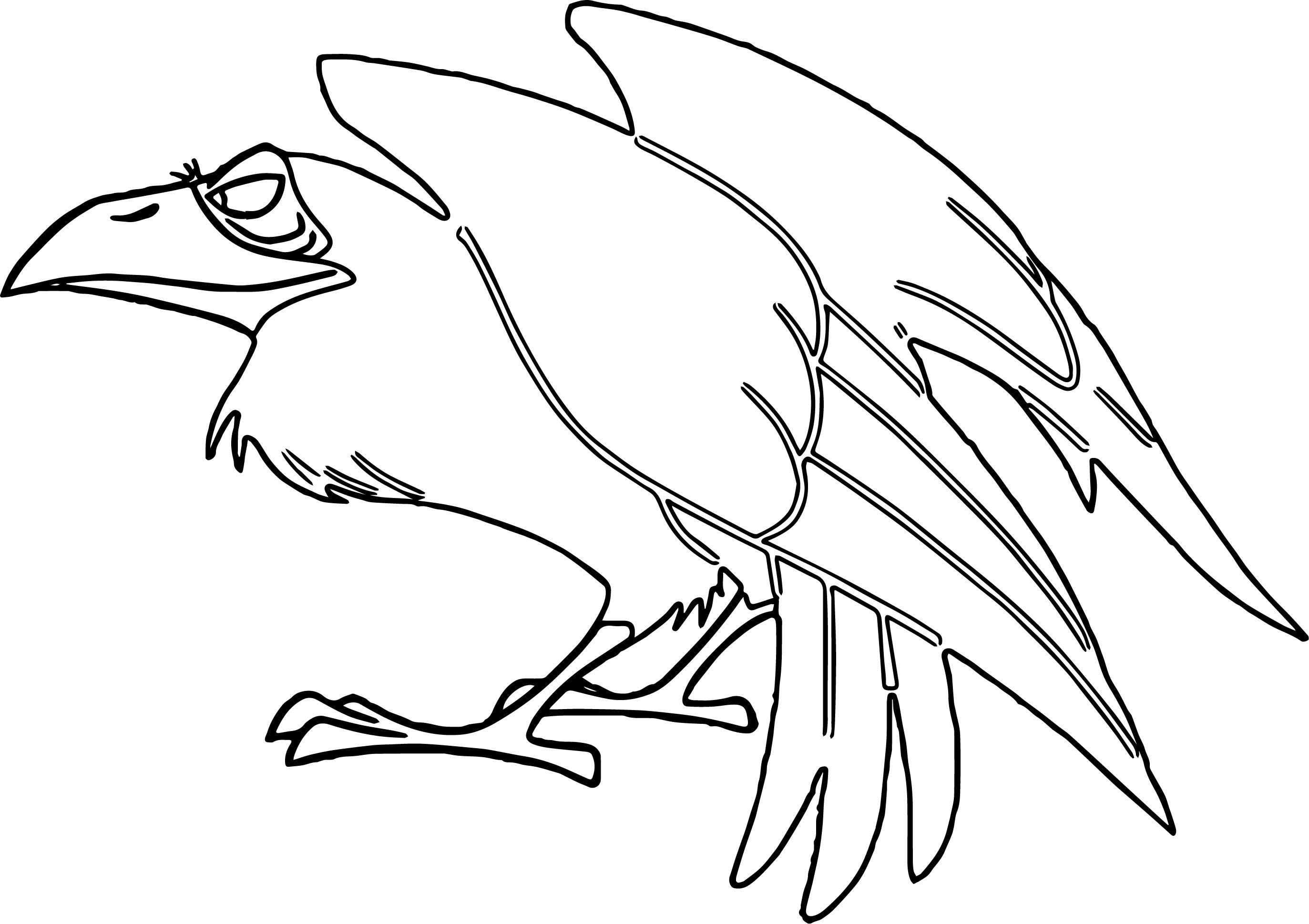 Awesome Crow Cartoon Aurora Maleficent Coloring Page Crows