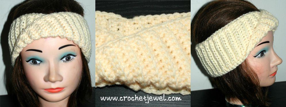 Crochet Twist Turban Headband Crochet Twist Turban Headbands And