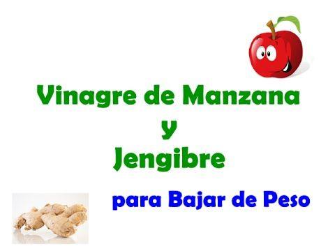 bajar de peso con jengibre y vinagre de manzana