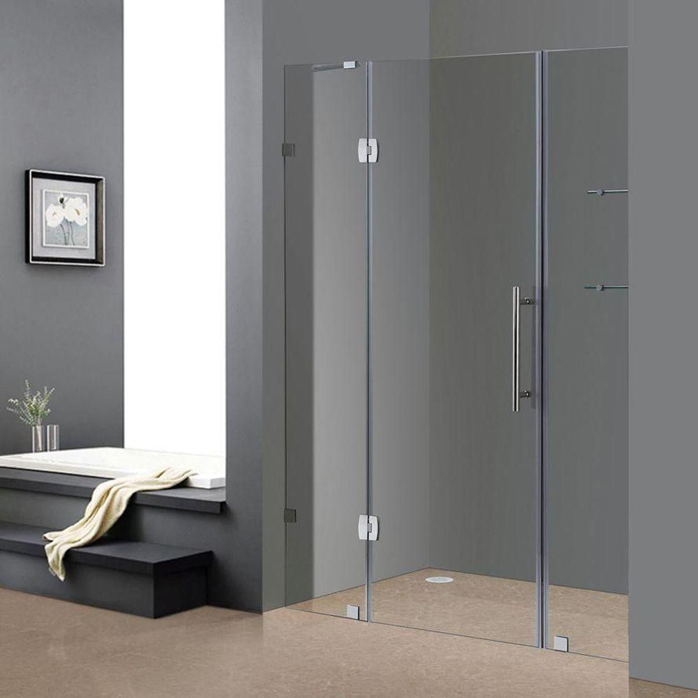 Double Hinged Glass Shower Door Shower Doors Frameless Shower