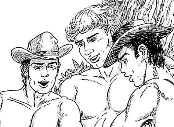 Gay Adult Colouring Book 10 Images To By CollectableMrJones