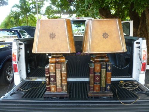 amazing vintage maitland smith classic stacked leather books table