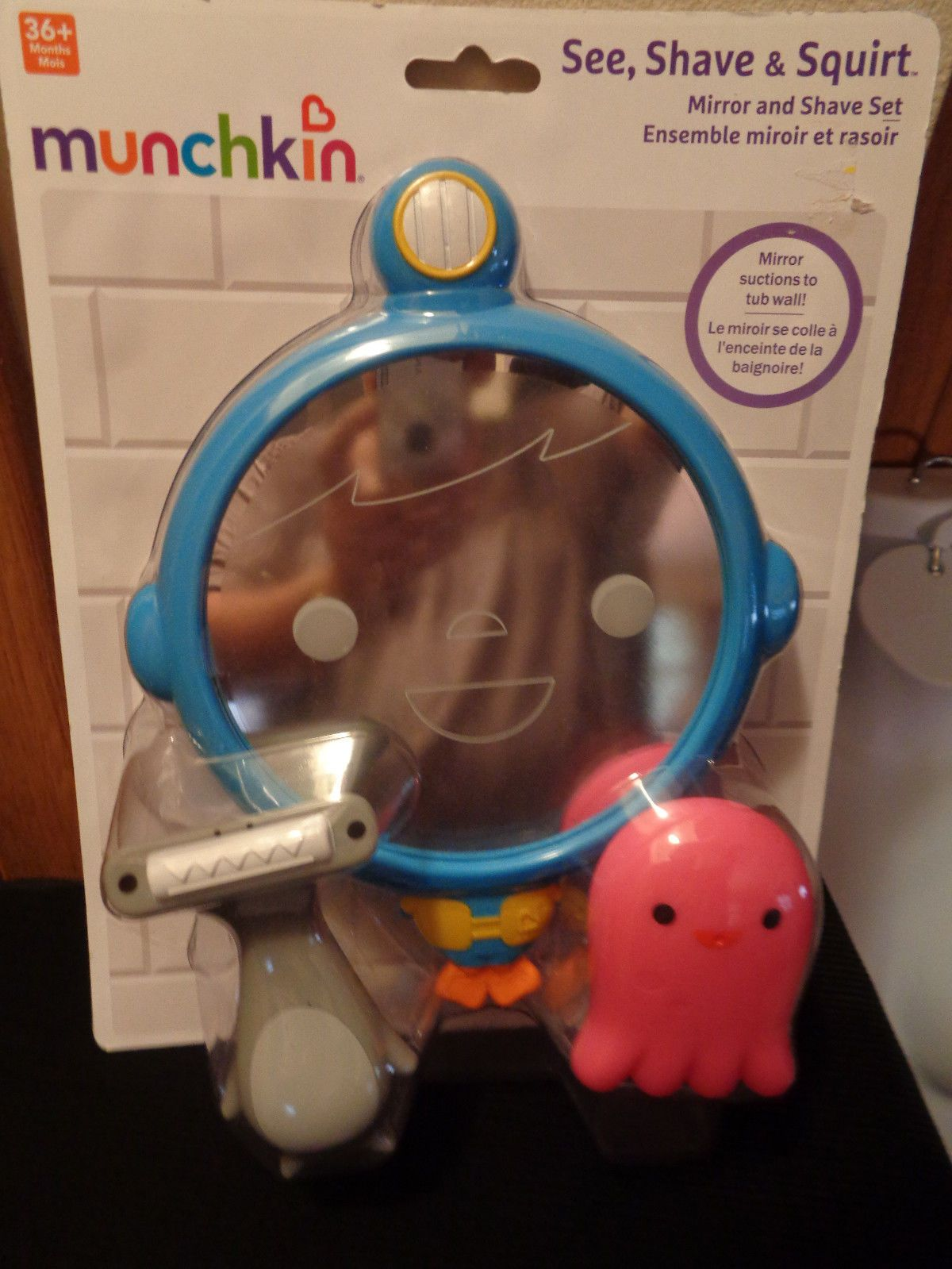 Munchkin See, Shave and Squirt Mirror Set Bath Toy NEW Sealed | Kids ...