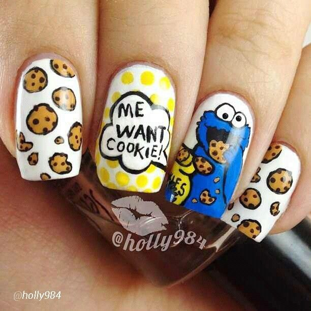 cookie monster nails <3