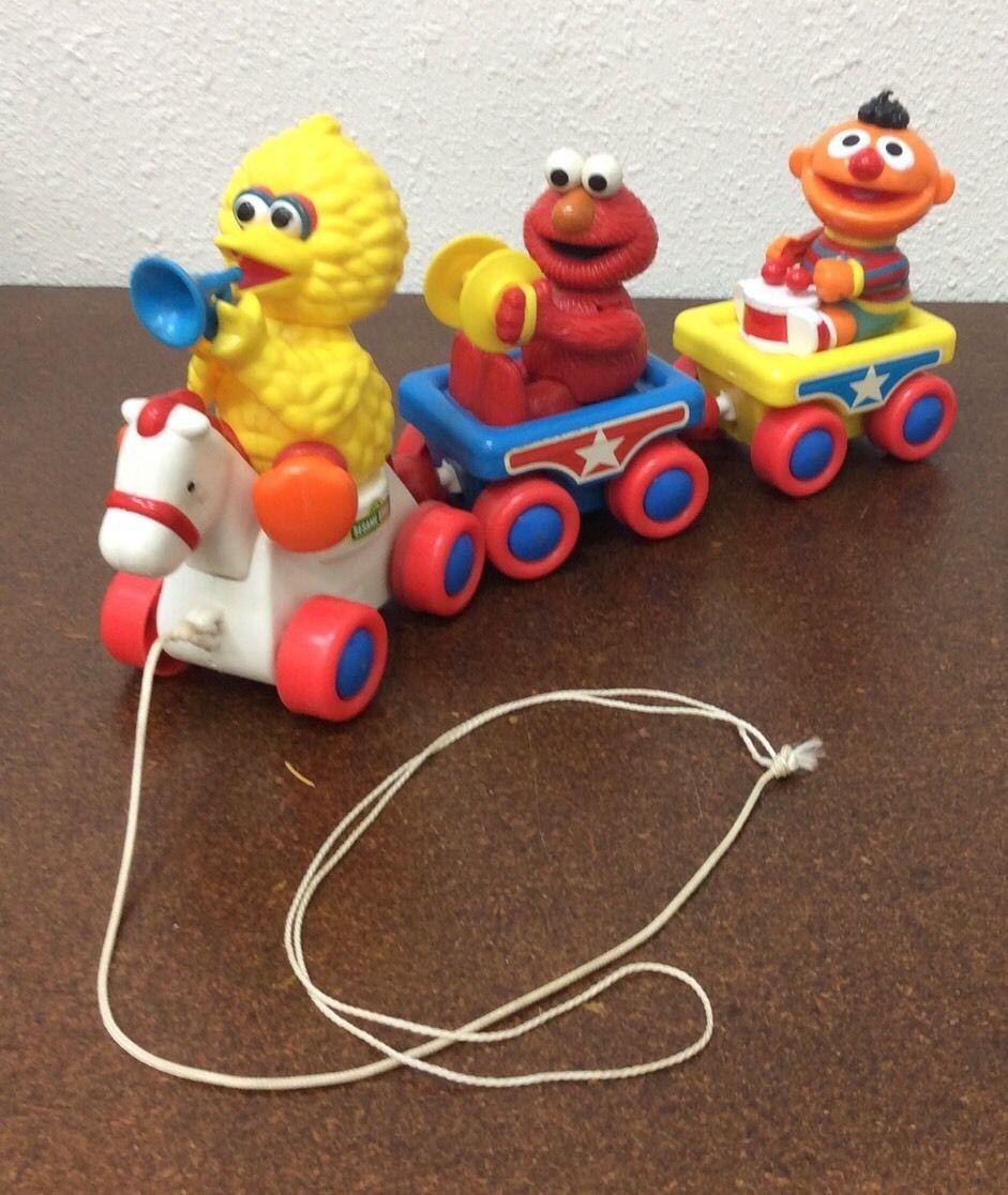 Sesame Street Train Set Pull Toy Big Bird Elmo Ernie Music Train Tyco Vintage | eBay