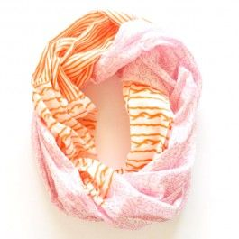 pink and orange infinity scarf