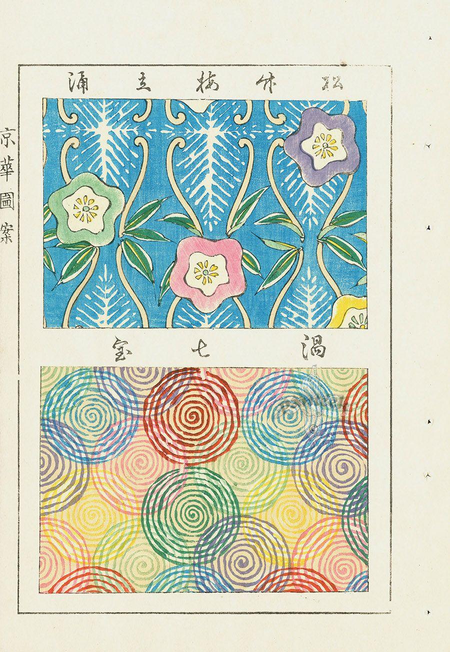 Japanese Woodblock Sample Designs | Pattern | Japanese design, Print