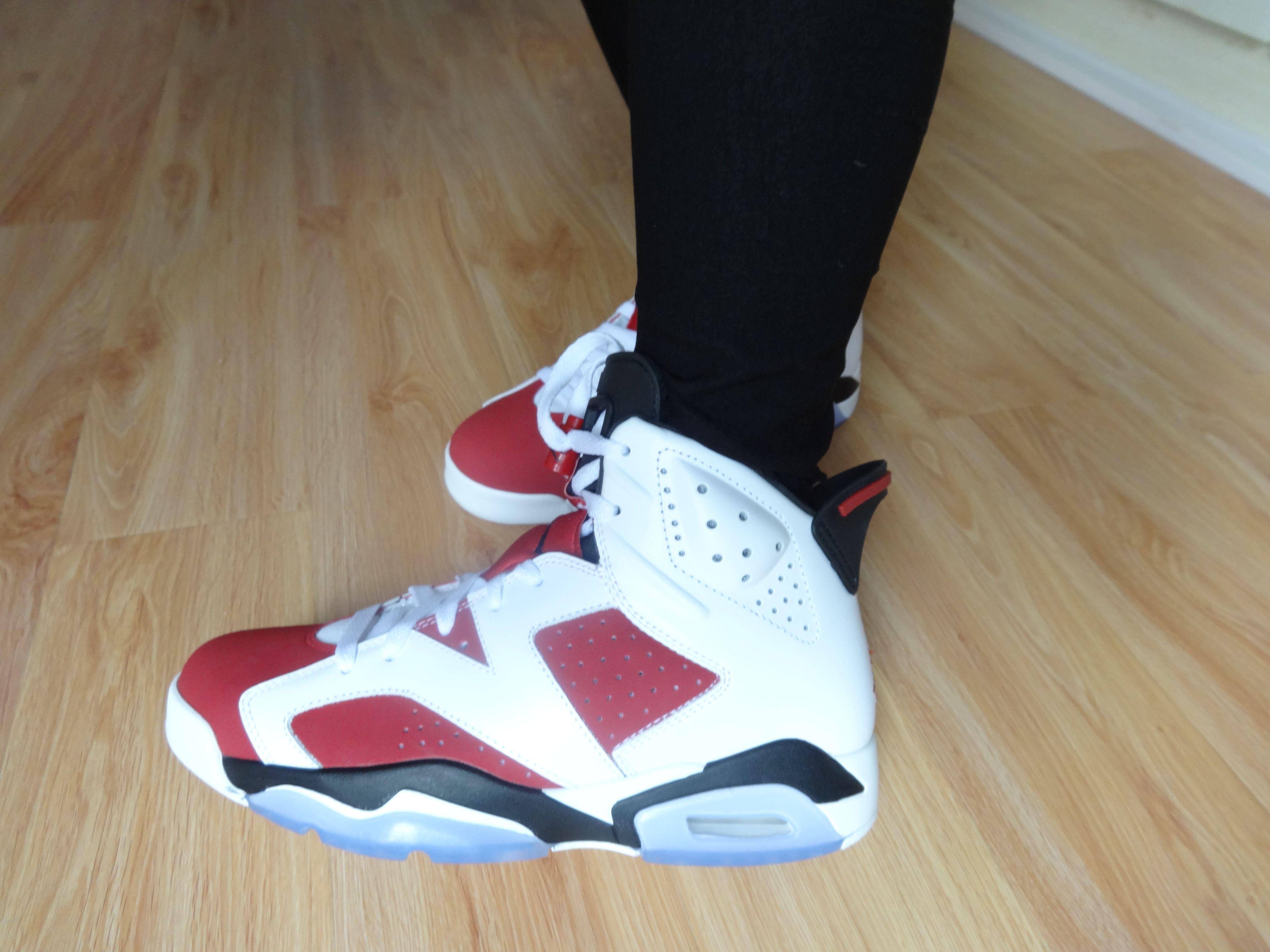super popular 13aba 8b295 jordan 6 carmine on foot!159$ | Jordan sneakers | Sneakers ...