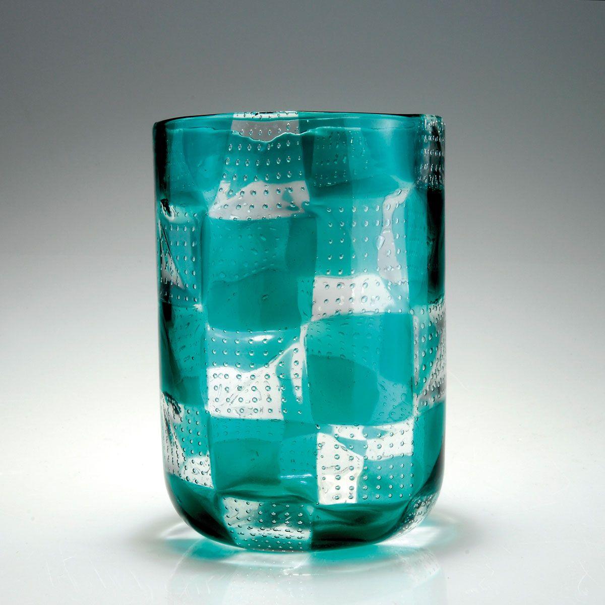 Ercole Barovier. 'Intarsio' vase. H. 20.5 cm. Designed in 1961-63. Made by Barovier & Toso.