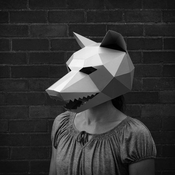 Wolf mask make your own with this simple pdf download