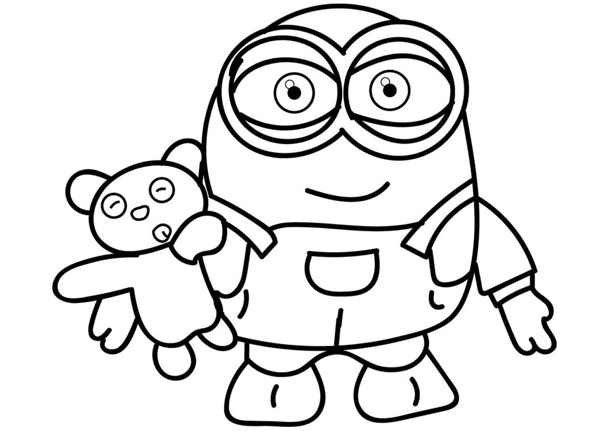 Bob And Teddy Bear Minions Coloring Pages Minion Coloring Pages Bear Coloring Pages