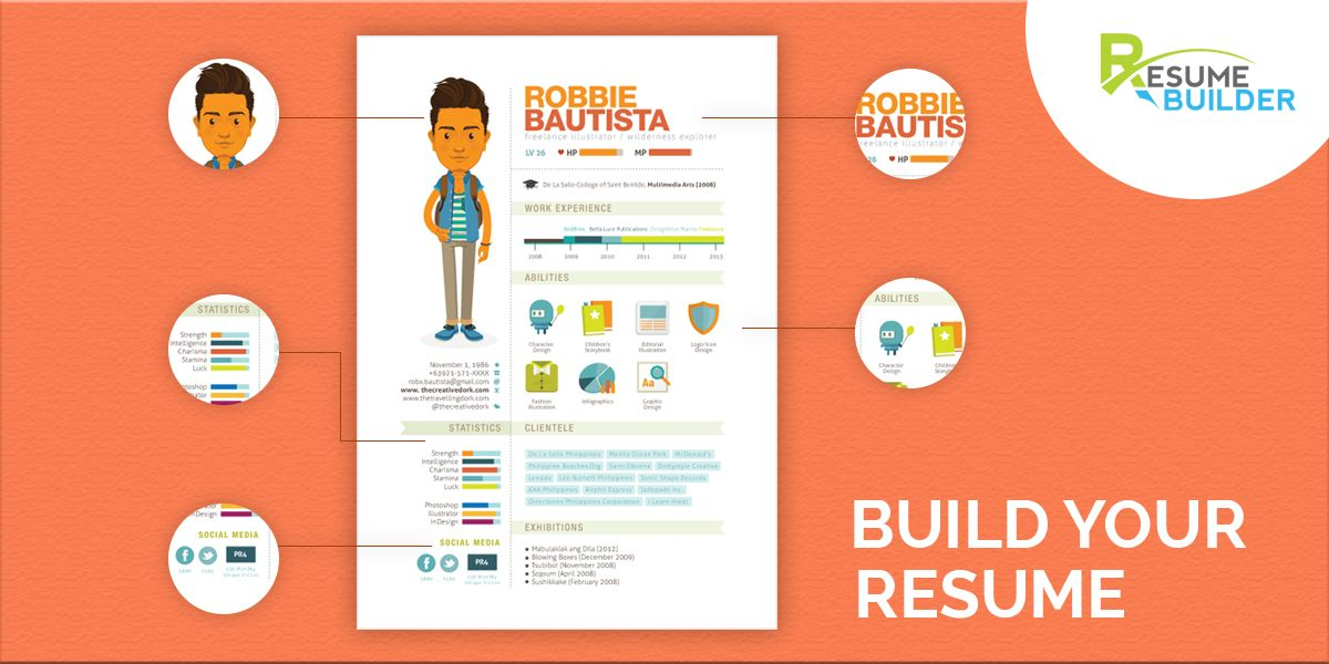 Eye Catching Resume Create A Professional Eyecatching #resume In Minutesutilize