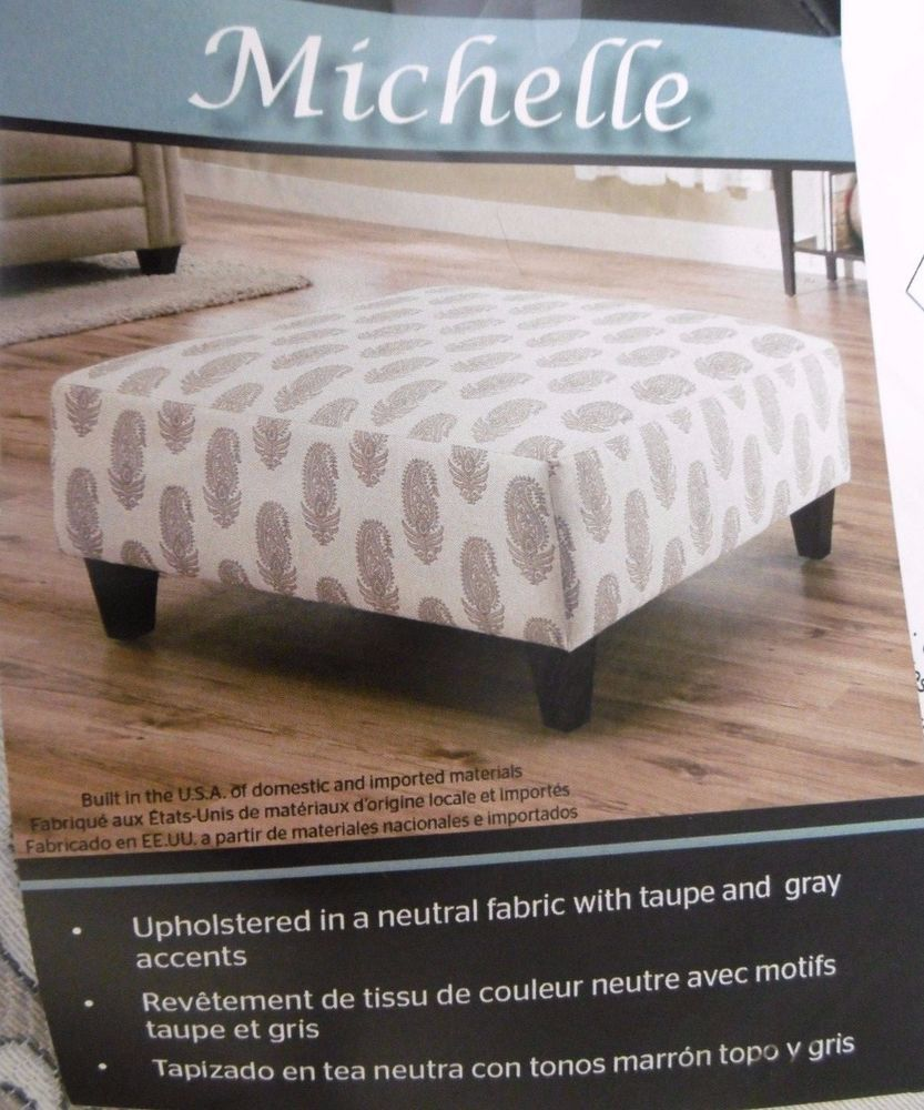 OTTOMAN SQUARE LARGE OVERSIZED COCKTAIL OTTOMAN by MICHELLE NEUTRAL ...