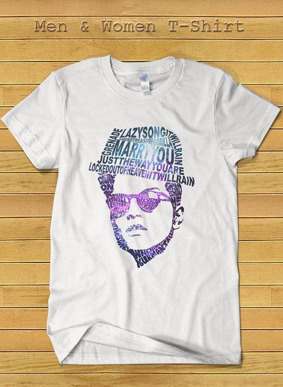 Bruno Mars Singer Head Tshirt Bruno Mars Shirt for by TeeDays, $17.15