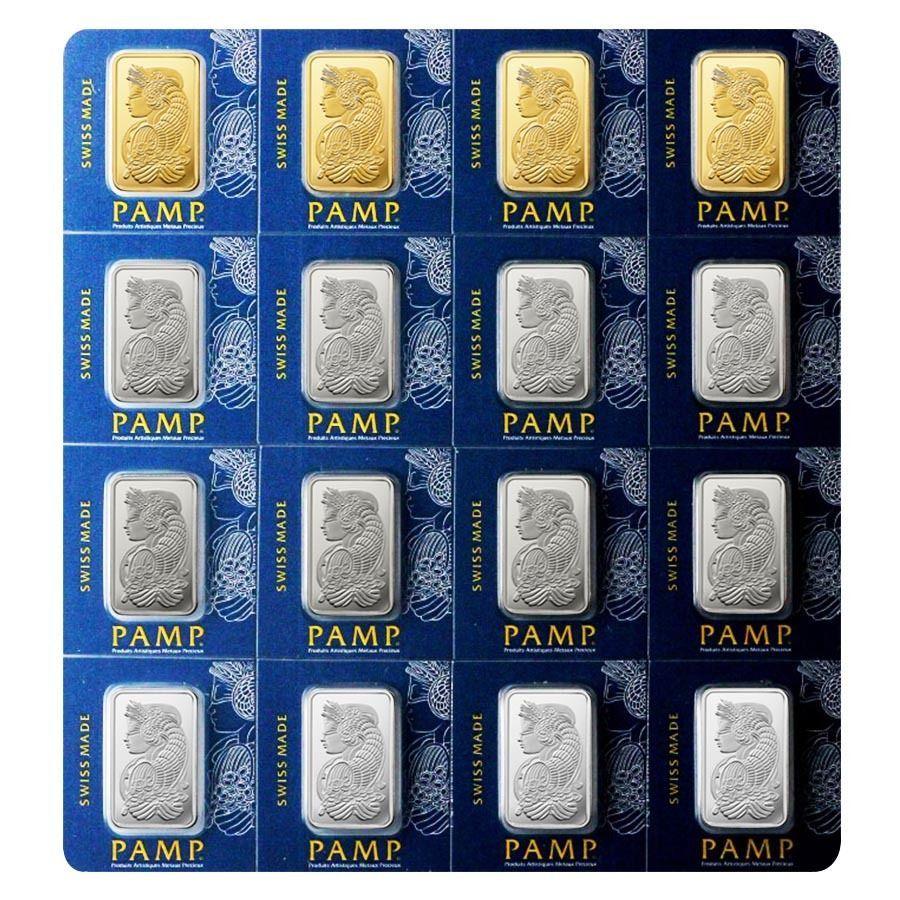 10 Grams Pamp Suisse Gold Platinum Palladium Silver Multigram Portfolio Bars